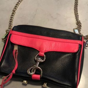 Rebecca Minkoff leather mini Mac crossbody bag.